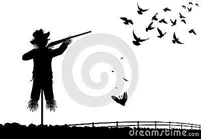 Shotgun scarecrow