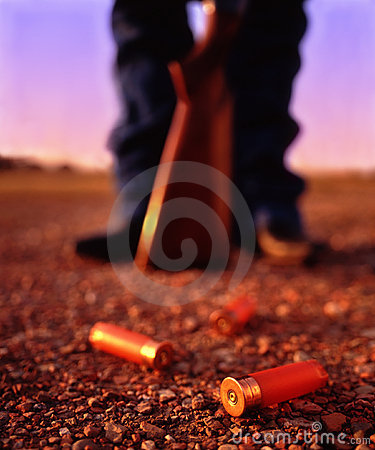 Free Shotgun Shells And Gun Stock Photo - 9503210