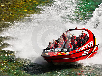 Shotover Jet Boat Ride, Queenstown, New zealand