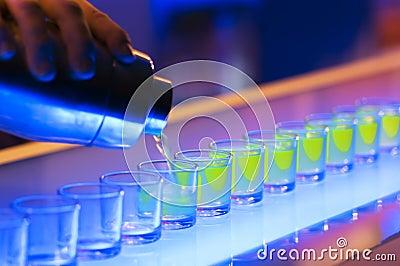 Shots on a bar
