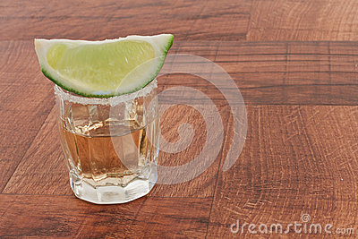 Shots of tequila