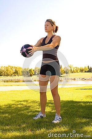 Free Shoulder Exercises Stock Photos - 3227413