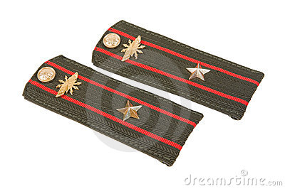 Shoulder strap of russian army