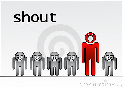 Shout out standing out of the crowd