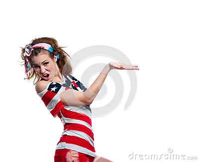 Shouting American girl