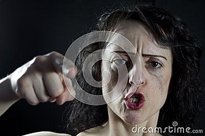 Shouting da mulher