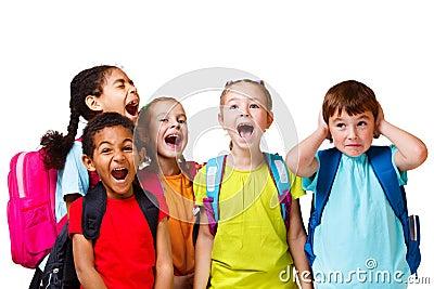 Shouting dos miúdos