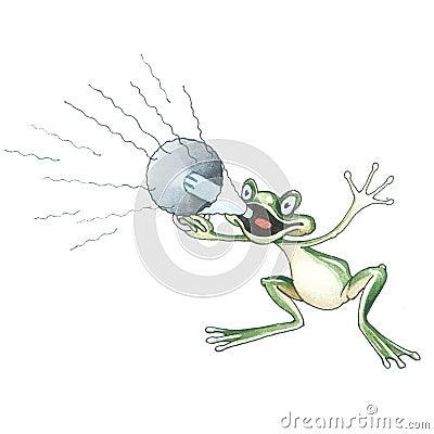 Shouting frog