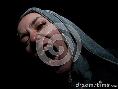 Shouting girl