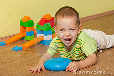 Shouting kid in the children room