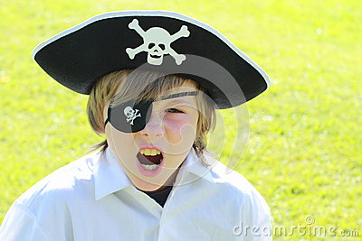 Shouting pirate boy