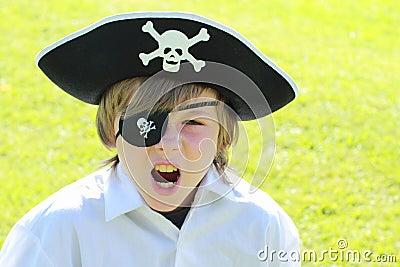 Shouting pirate boy