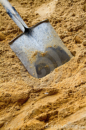 Shovel with sand