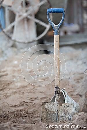 Shovel sand for construction