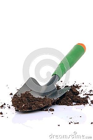 Shovel and soil