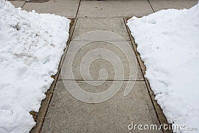 Shovelled sidewalk