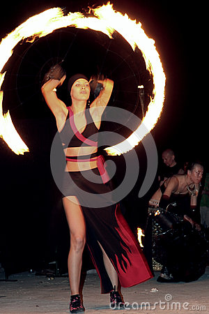 Show with fire Editorial Stock Photo