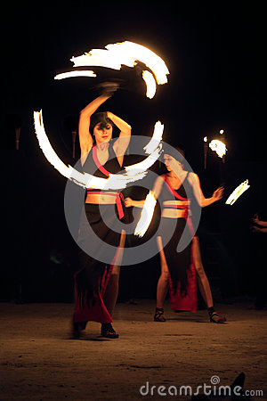 Show with fire Editorial Image