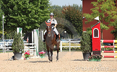 Show jumping Editorial Stock Photo
