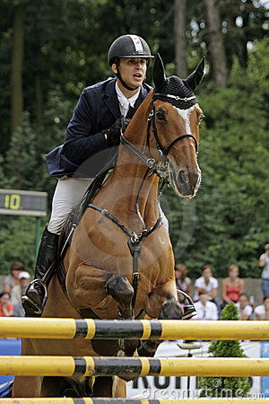 Show-jumping Editorial Stock Photo