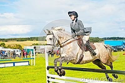 Show jumping at Nairn . Editorial Photography