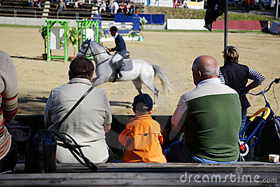 Show jumping and spectators 2