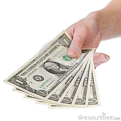 Free Show Me The Money, 1 Dollar Royalty Free Stock Photo - 1884105