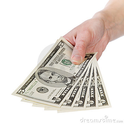 Free Show Me The Money, 5 Dollar Royalty Free Stock Image - 1884066