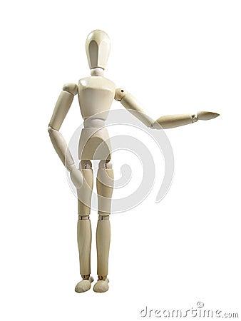 Show Presenter Wood Puppet