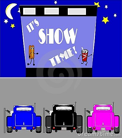 Free Show Time At Drive In Royalty Free Stock Photo - 20349485