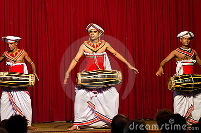 Show in traditional Sri Lankian theatre Editorial Photography