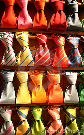 Free Showcase Neckties Multicolor Royalty Free Stock Photo - 580895