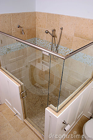 Shower above view