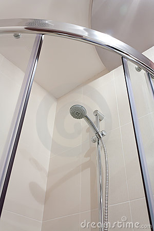 Shower in bathroom