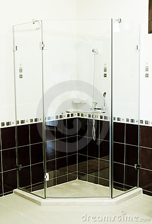 Free Shower Cabin. Royalty Free Stock Photography - 23226457
