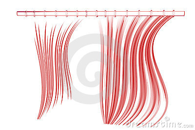 Shower curtain (3D xray red on white)