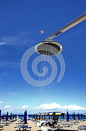 Free Shower On The Beach Stock Photos - 74512043