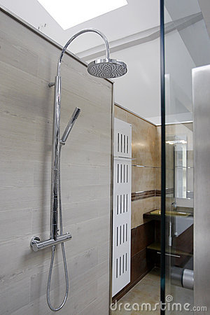 Shower on the wall