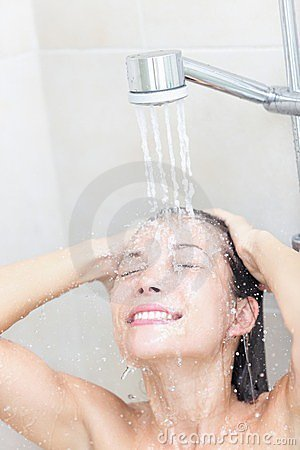 Free Shower Woman Washing Stock Images - 23650924