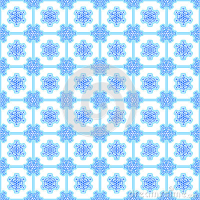 Showflake seamless background