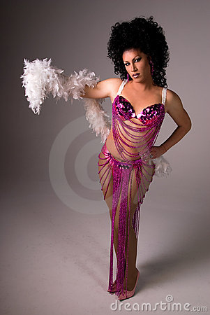 Free Showgirl Drag Queen. Royalty Free Stock Photography - 5106257