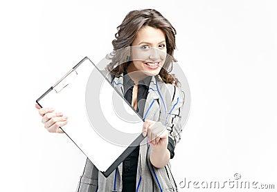Showing blank clipboard