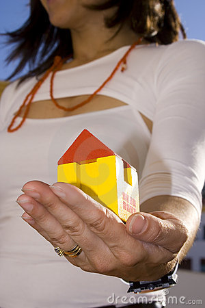 Showing My New House 2 Royalty Free Stock Image - Image: 2487766