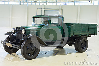 Showpiece of the old car GAZ on exhibition Editorial Stock Photo