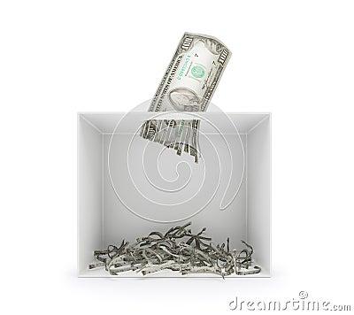Free Shredding Dollar Bill Royalty Free Stock Photos - 60856218