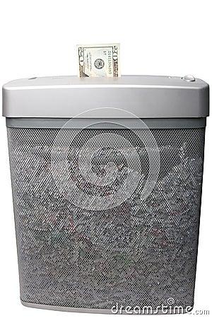 Free Shredding Money Stock Photography - 14109502