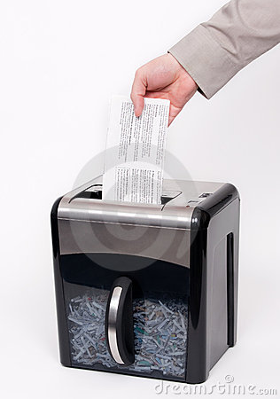 Shredding office documents