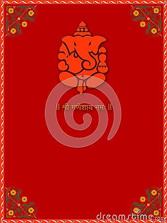 Shree Ganesha - Card Template