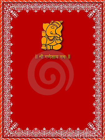 Free Shree Ganesha - Card Template Royalty Free Stock Images - 3323989