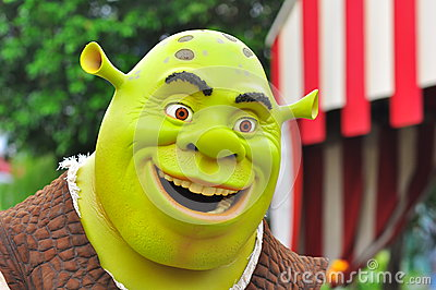 Shrek cartoon character Editorial Photo